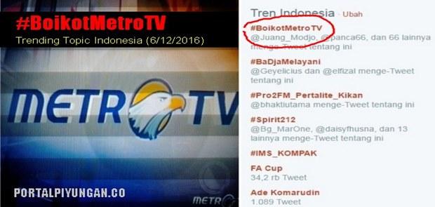 Dukung Gerakan Boikot MetroTV, Ratusan Ribu Warganet Teken Petisi