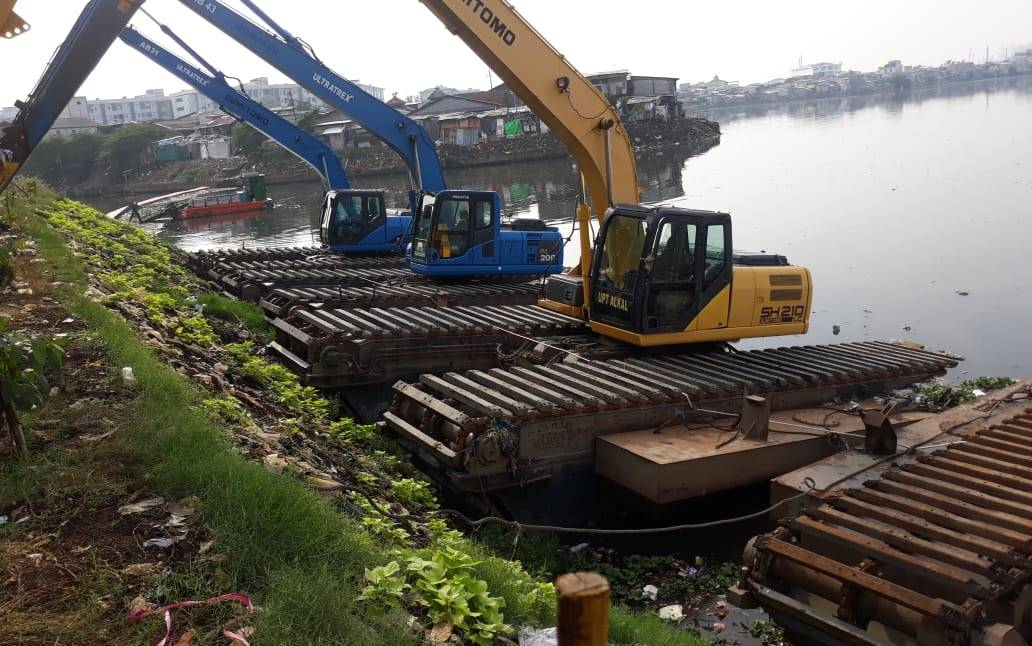Pendangkalan Waduk Pluit, Pemprov DKI Jakarta Lakukan Pemeliharaan Sedimen