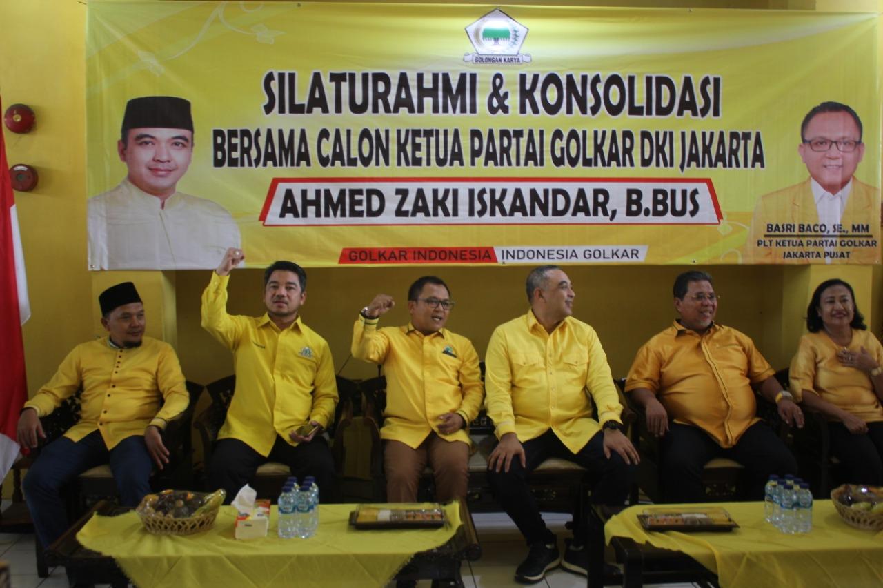 Silaturahmi ke Golkar Jakpus, Calon Ketua Golkar DKI Apresiasi Sambutan Seluruh Kader