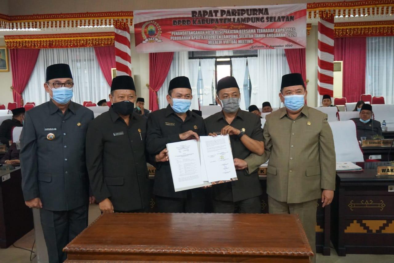 DPRD-Pemkab Lampung Selatan Sepakati KUPA-PPAS Perubahan APBD TA 2020