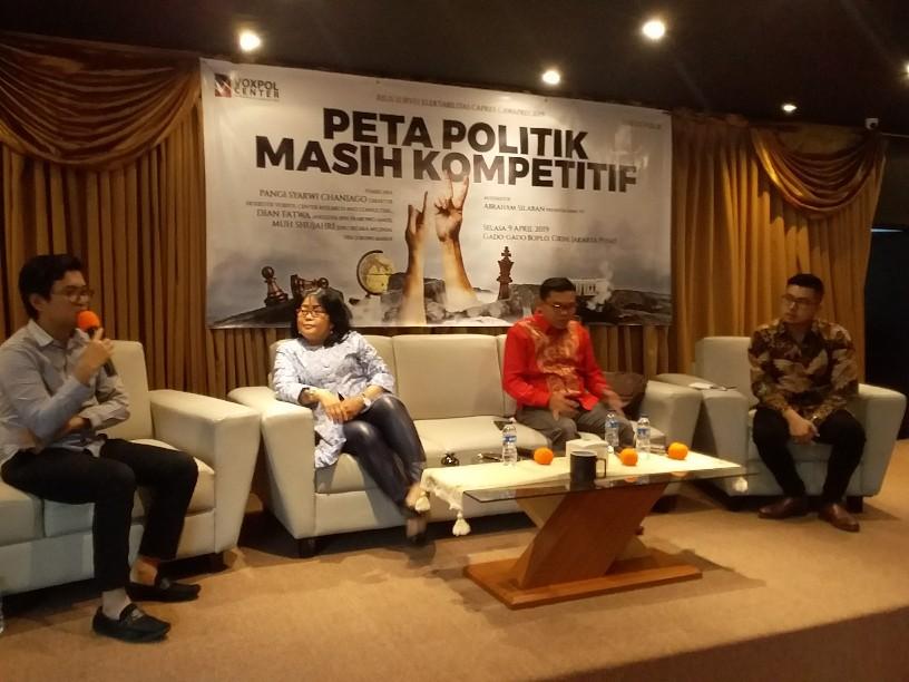 Hasil Survey Voxpol, Jokowi-Ma'ruf Amin dan Prabowo-Sandi Cuma Beda 5 Persen
