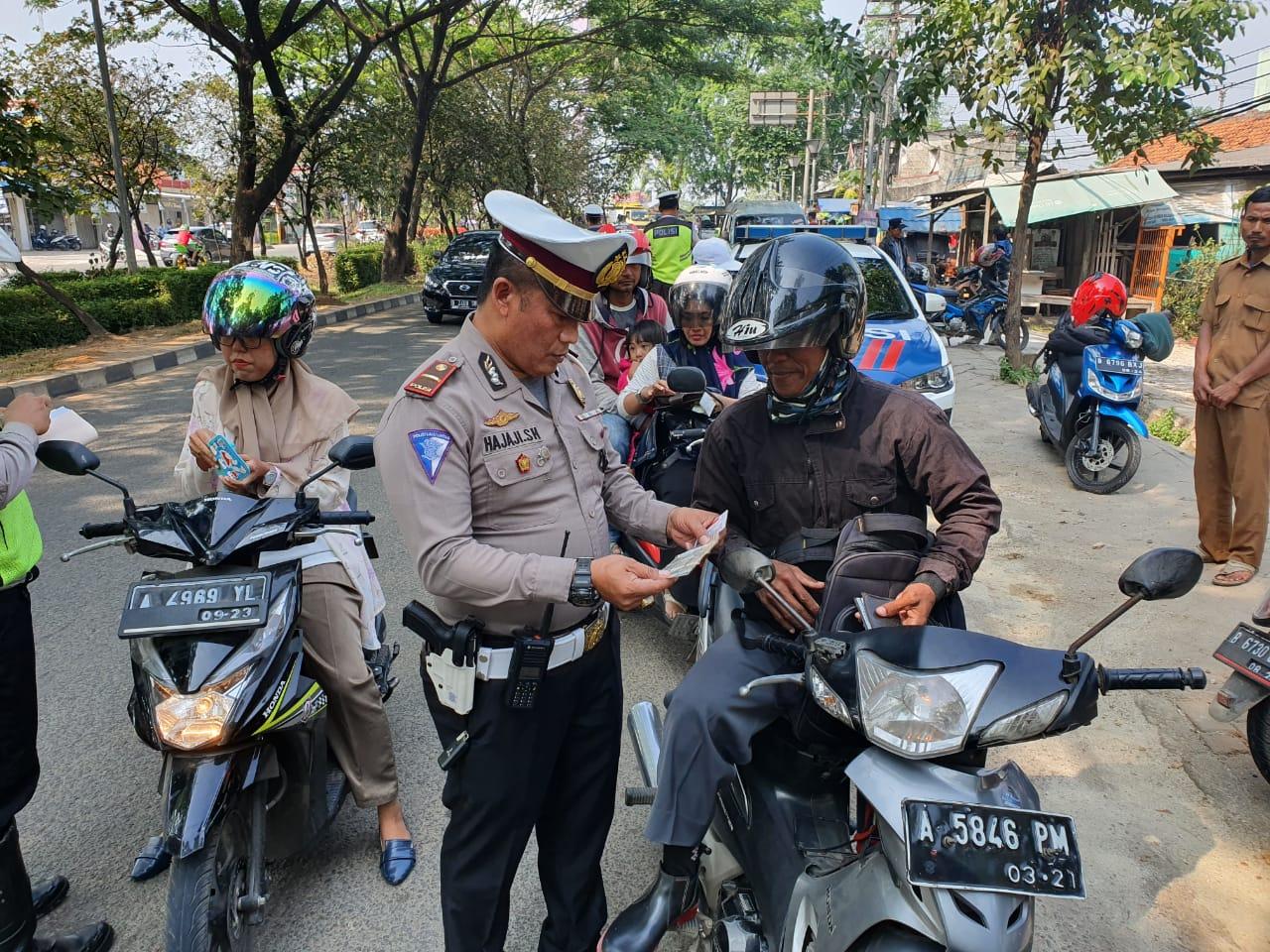 Dalam Sepekan, Ribuan Pelanggar Ditilang Satlantas Polresta Tangerang