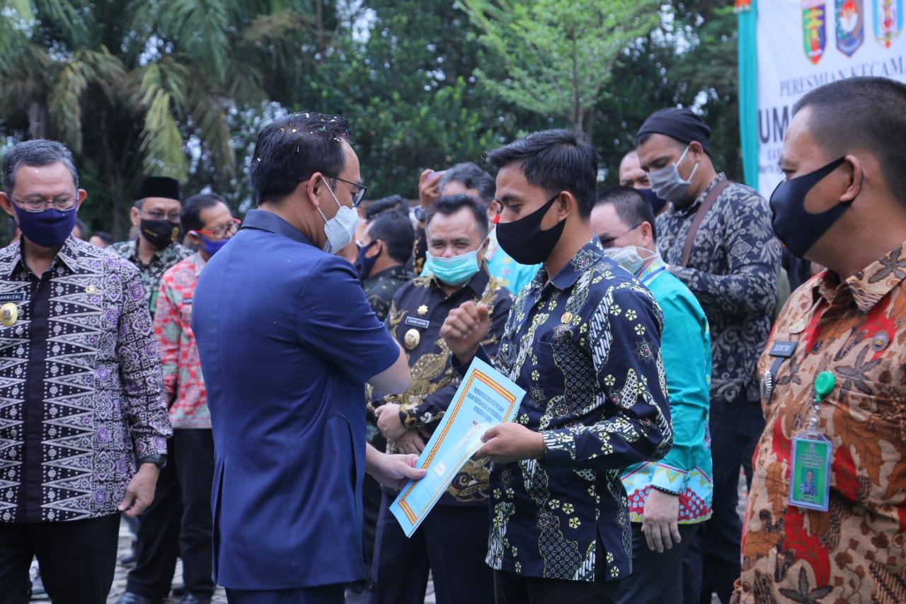 Peresmian Kecamatan Umpu Semenguk, mendukung percepatan terwujudnya visi dan Misi Way Kanan