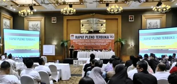 KPU DKI TetapkanAnies-Sandi Menang Atas Ahok-Djarot Disemua Wilayah