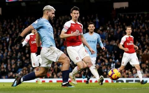 ManCity Bekap Arsenal 3-1 Berkat Hatrick Aguero