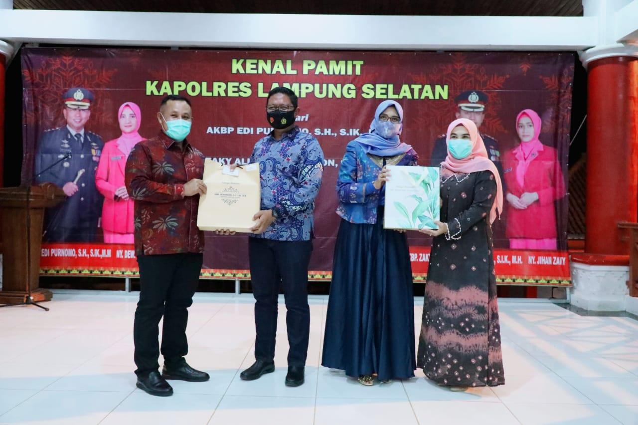 Pemkab Lampung Selatan Gelar Kenal Pamit Kapolres