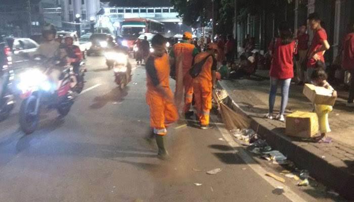 Bersihkan Ibukota Saat Warga Terlelap, Anies Apresiasi Kinerja Pasukan Orange