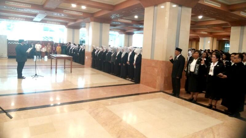 Sekda Lantik 446 Pejabat Fungsional dari 11 SKPD