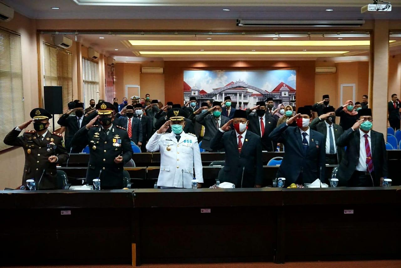 Pemkab Lampung Selatan Ikuti Detik-detik Proklamasi Kemerdekaan RI ke-75 Secara Virtual
