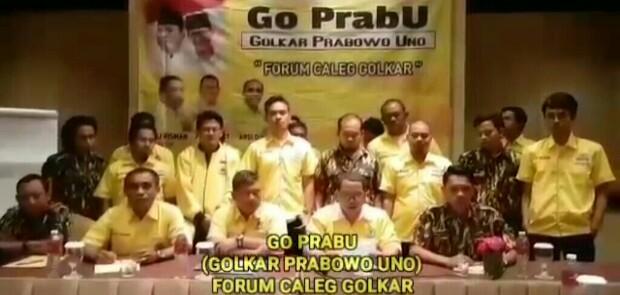 Forum Caleg Golkar Nyatakan Dukung Prabowo-Sandiaga Uno