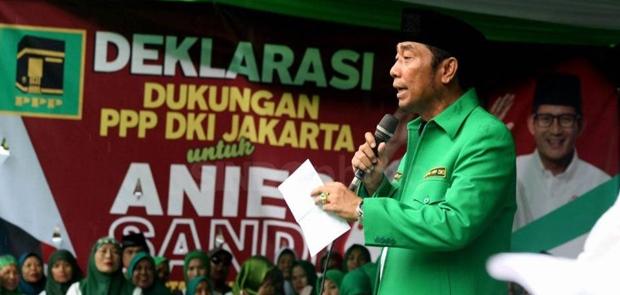 H Lulung Ngeyel, Dukung Anies-Sandi