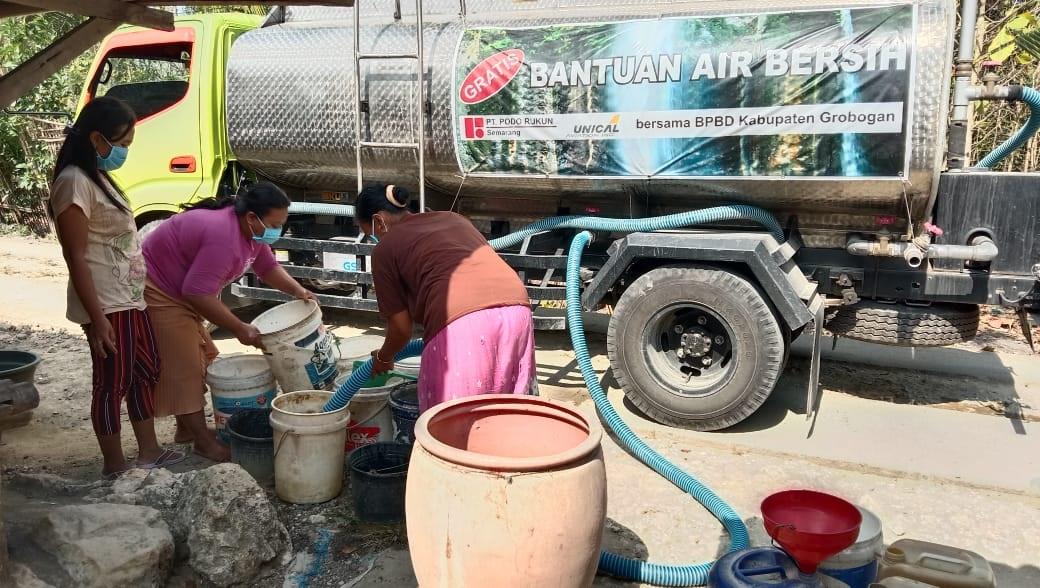 Atasi Kekeringan, 80 Desa di Grobogan Disuplai Air Bersih