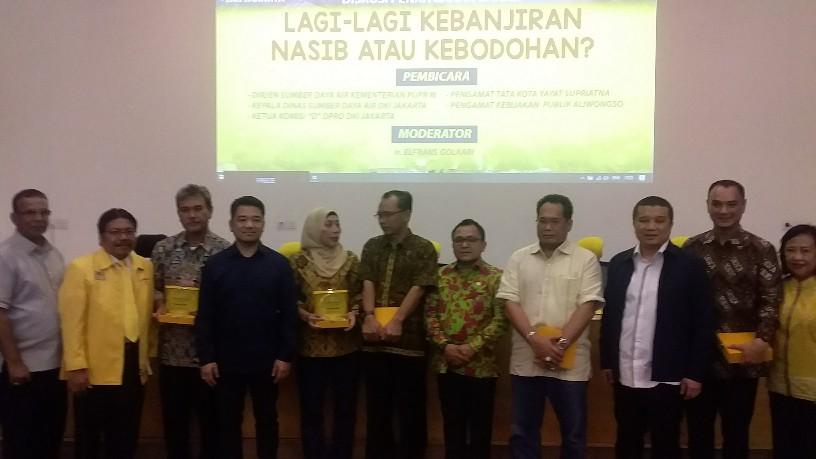Gelar Diskusi, Golkar DKI Ingin Masyarakat Paham Soal Bahaya Dan situasi Banjir