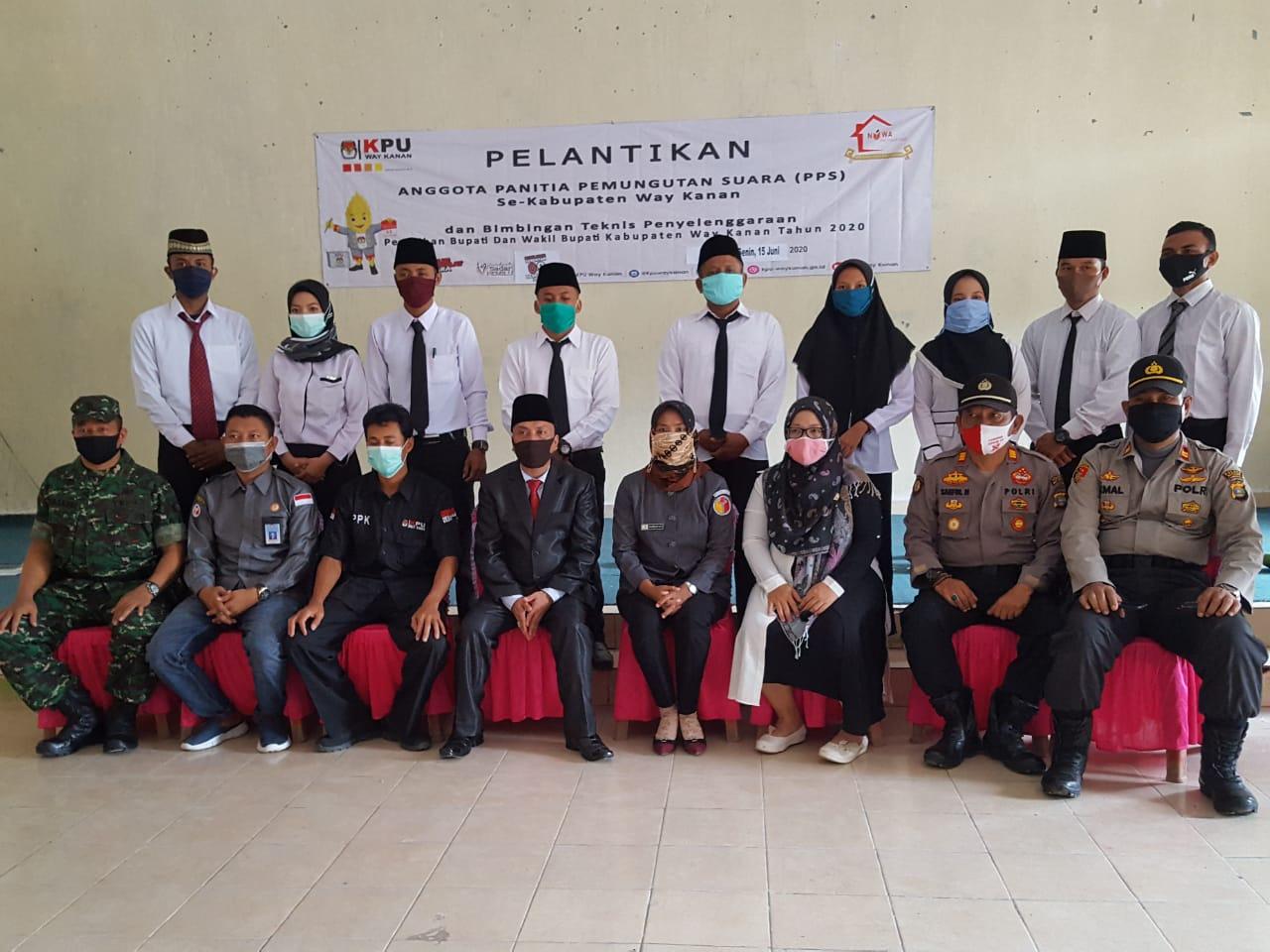 Refki Dharmawan 681 Personil PPS se- Way Kanan Di Lantik
