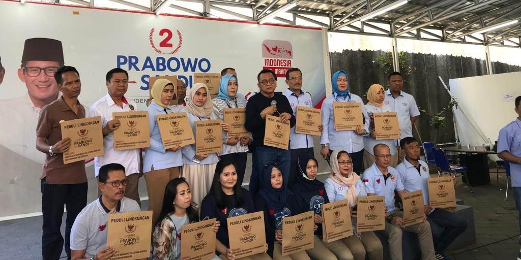 Sekretariat Nasional Prabowo-Sandi Launching Gerakan Ganti Kantong Plastik