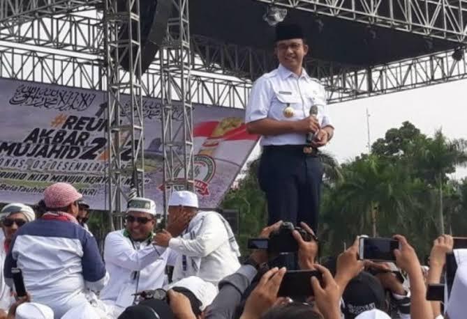 Hadir di Reuni 212, Anies Diminta Ribuan Jamaah Jadi Presiden 2024