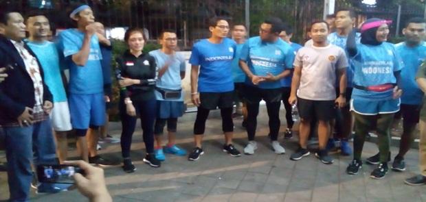 Galang Dana Untuk Korban Gempa Donggala Sandiaga Uno Gelar Run for Sulteng
