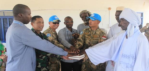 Prajurit Indobatt-03 Tampil Kembali Pada Perjanjian Perdamaian di Umsebheika