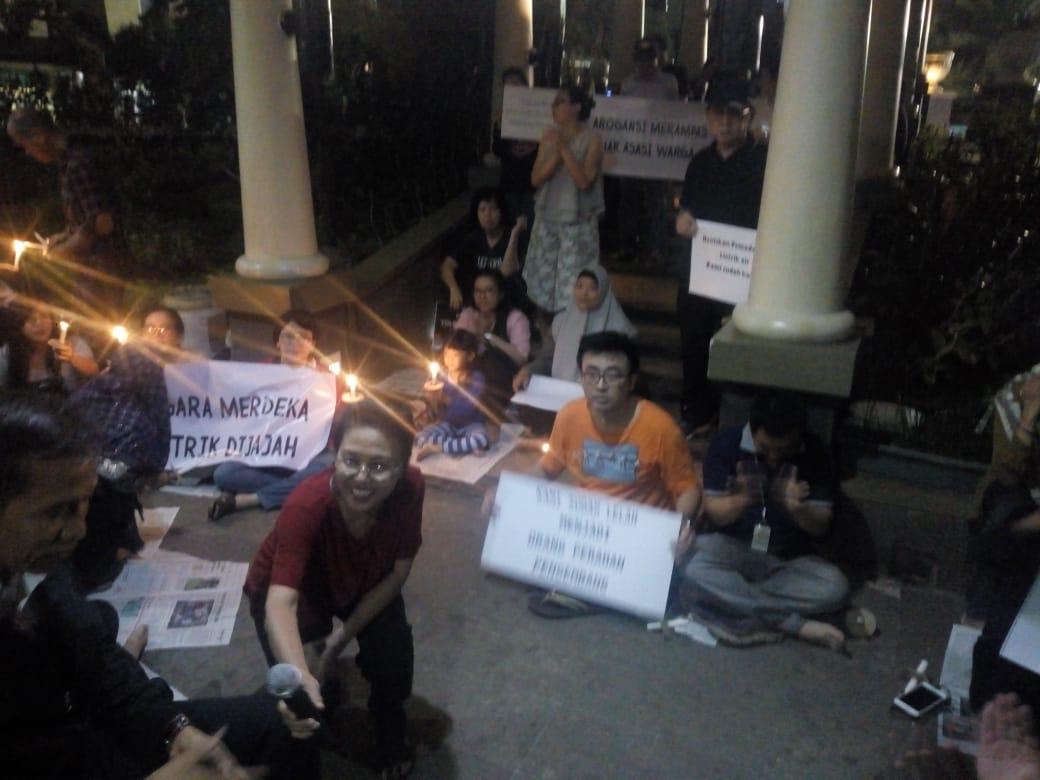 Aktivis HAM Datang, Aliran Listrik Apartemen Kemayoran Nyala Kembali