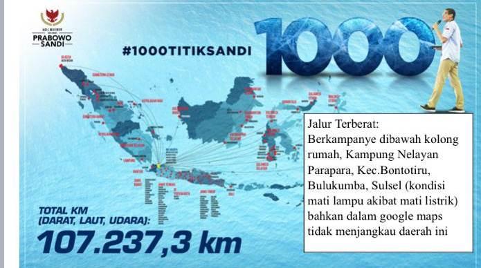 Sandiaga Sudah Lakukan Perjalanan 100.000 KM lebih dalam Kampanye Politiknya