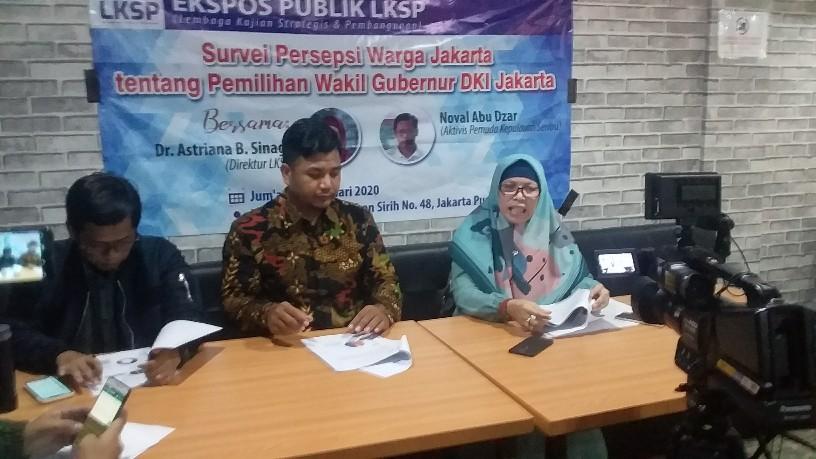 Survey LKSP, Calon Wagub PKS Lebih Dikenal Warga Ibukota