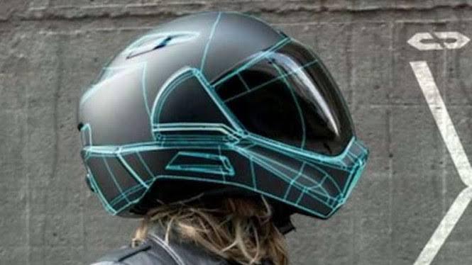 Helm Canggih Dilengkapi Dua Kamera, Bisa Melihat Situasi di Belakang