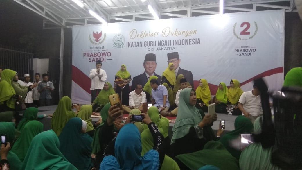 Guru Ngaji Jakarta Dukung Prabowo-Sandi