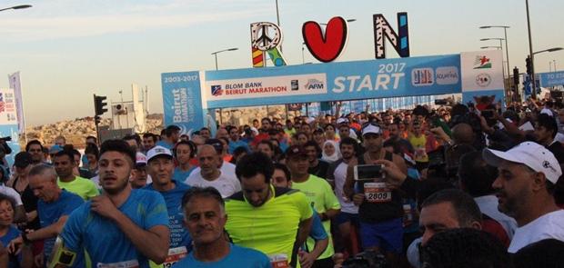Prajurit TNI Konga Unifil Meriahkan Beirut Marathon 2017 di Lebanon