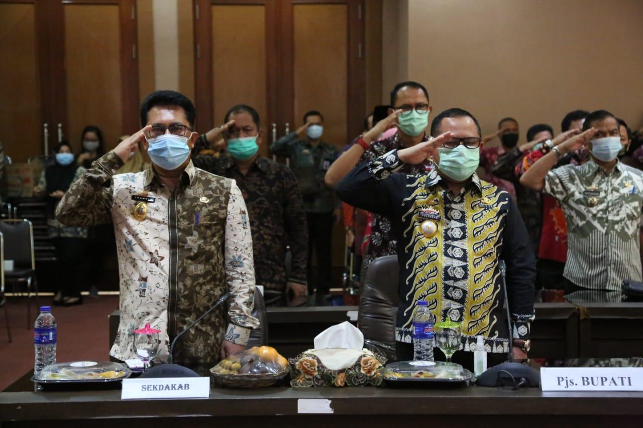 Pjs Bupati Lampung Selatan Ikuti Upacara Hari Kesaktian Pancasila 2020 Secara Virtual