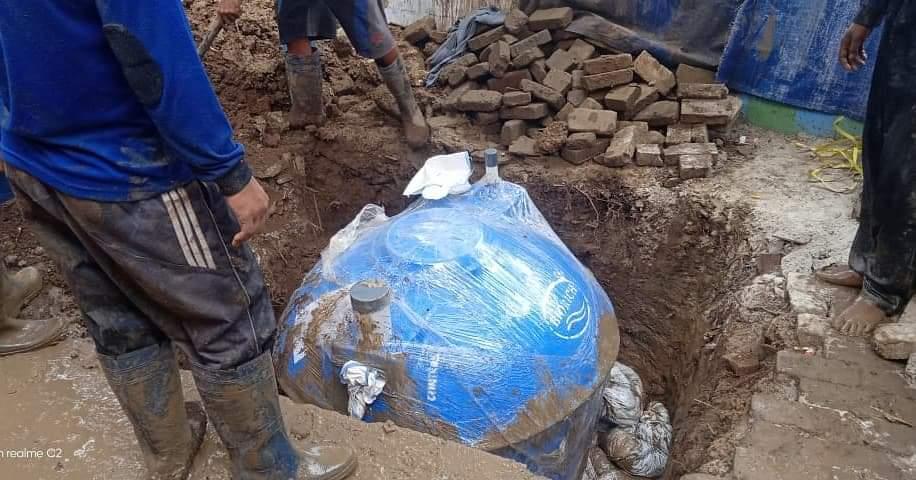 Bangun Empat Septik Tank Komunal, Kelurahan Rawa Badak Utara Cegah Pencemaran Air Tanah