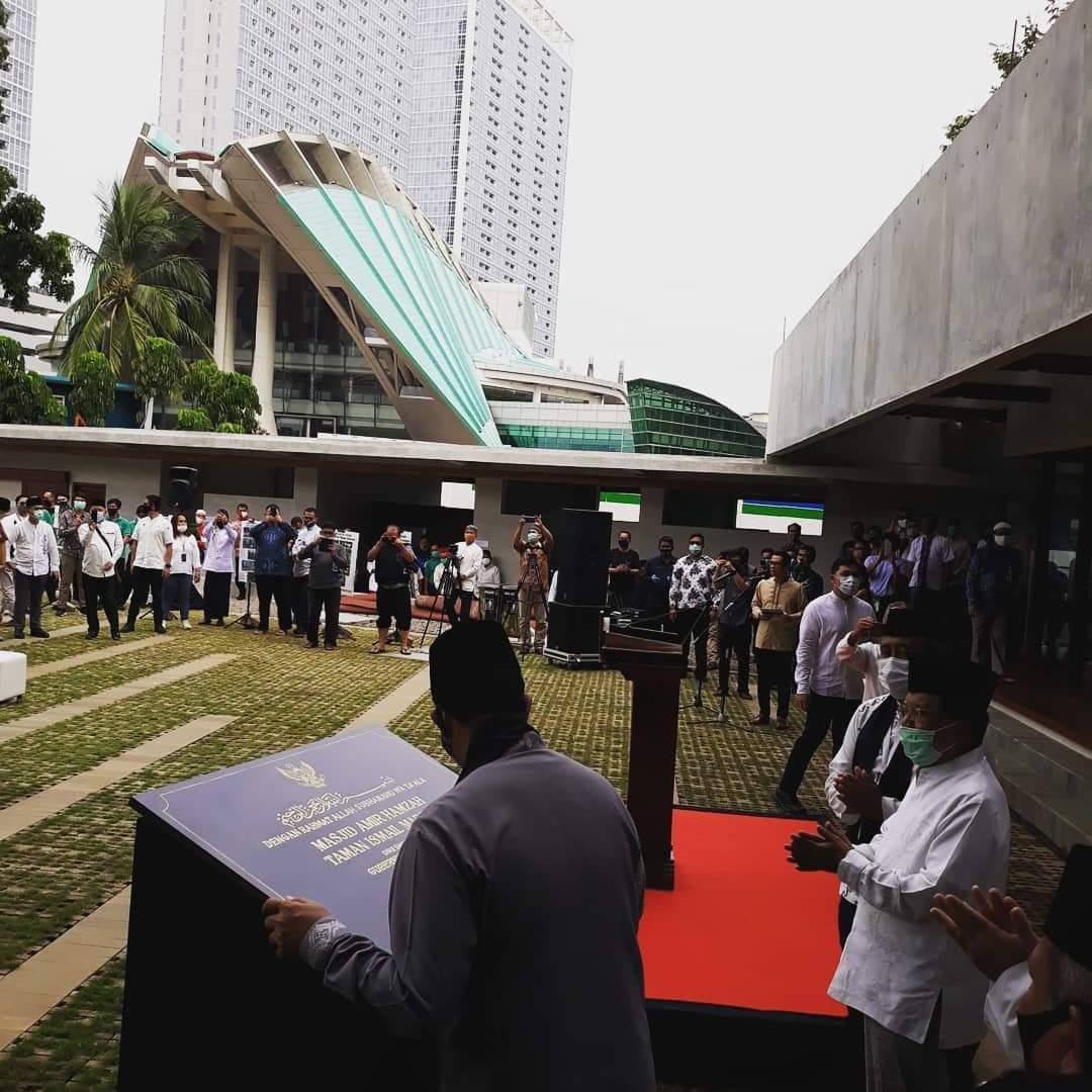 Jusuf Kalla dan Anies Resmikan Mesjid Amir Hamzah di TIM