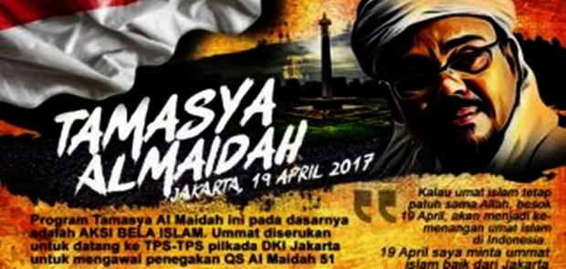Tamasya Al-Maidah Sudah Diizinkan Ketua KPU
