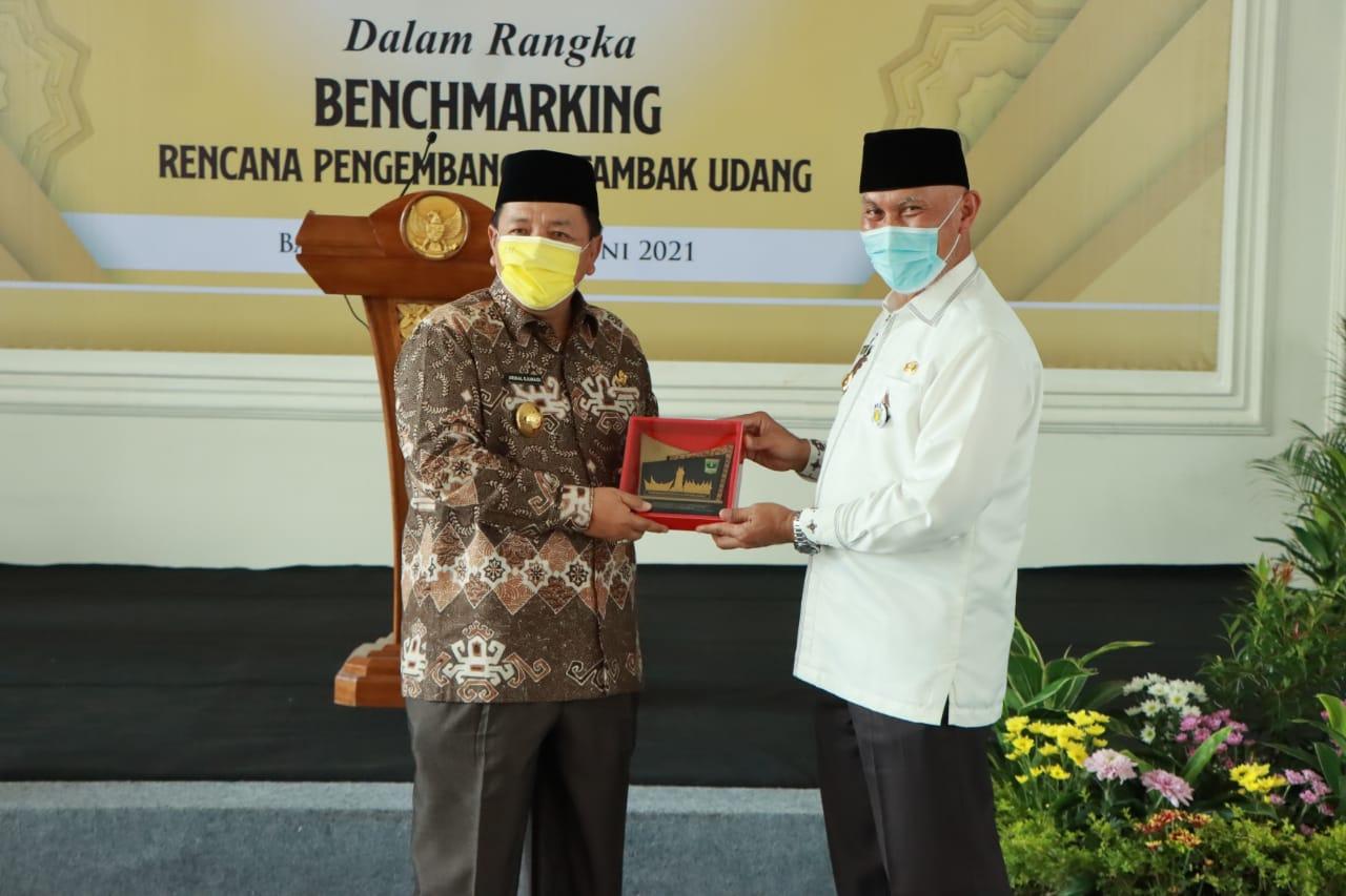 Gubernur Arinal Terima Kunjungan Kerja Gubernur Sumbar Dalam Rangka Benchmarking Rencana Pengembangan Tambak Udang