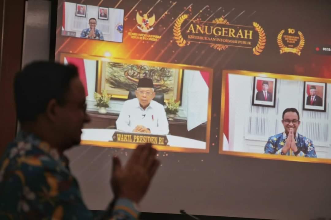 Anies Torehkan Lagi Penghargaan, Jakarta Pemda Paling Informatif