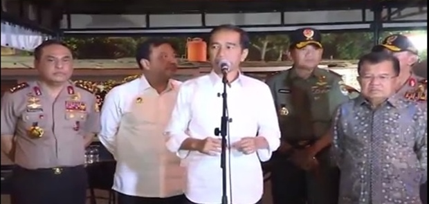 Jokowi Minta Peran TNI Dilibatkan Dalam RUU Anti-terorisme