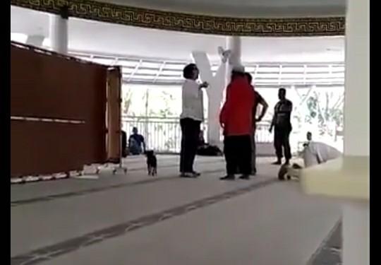 Viral Wanita Bawa Anjing di Masjid, Polisi Sebut Motifnya Ingin Cari Suaminya