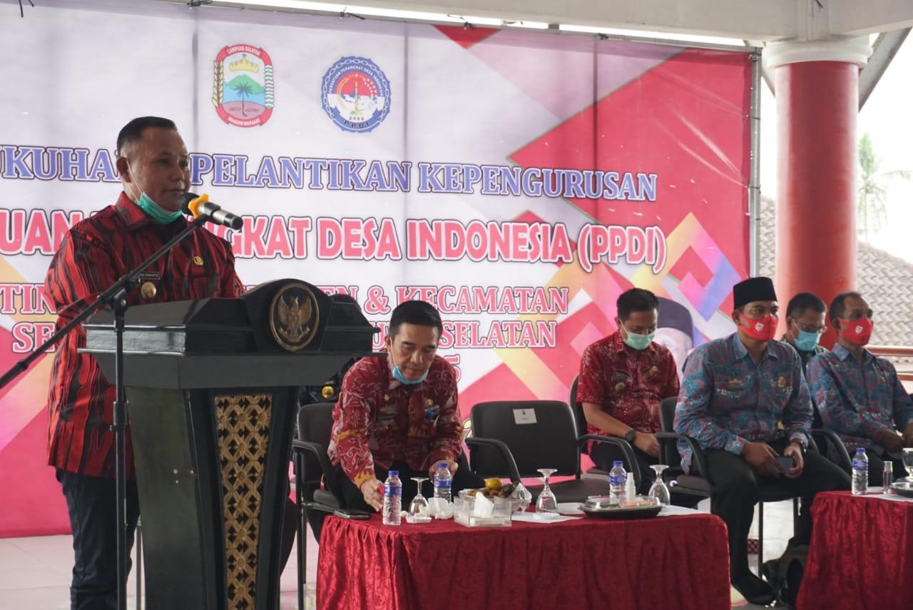 Hadiri Pelantikan Pengurus PPDI Lampung Selatan, Ini Pesan Nanang Ermanto