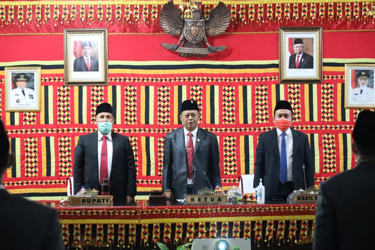 Bupati Lampung Selatan dan Forkopimda Dengarkan Pidato Kenegaraan Presiden Jokowi