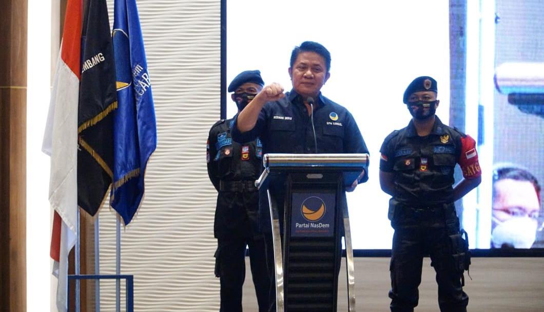 HD Membuka Rakorda DPD Partai Nasdem