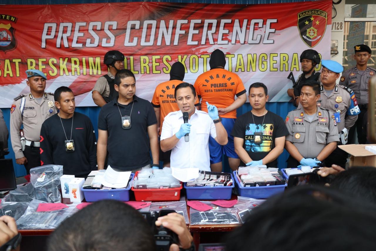 Sindikat Rekondisi Smartphone Digerebek Polresta Tangerang