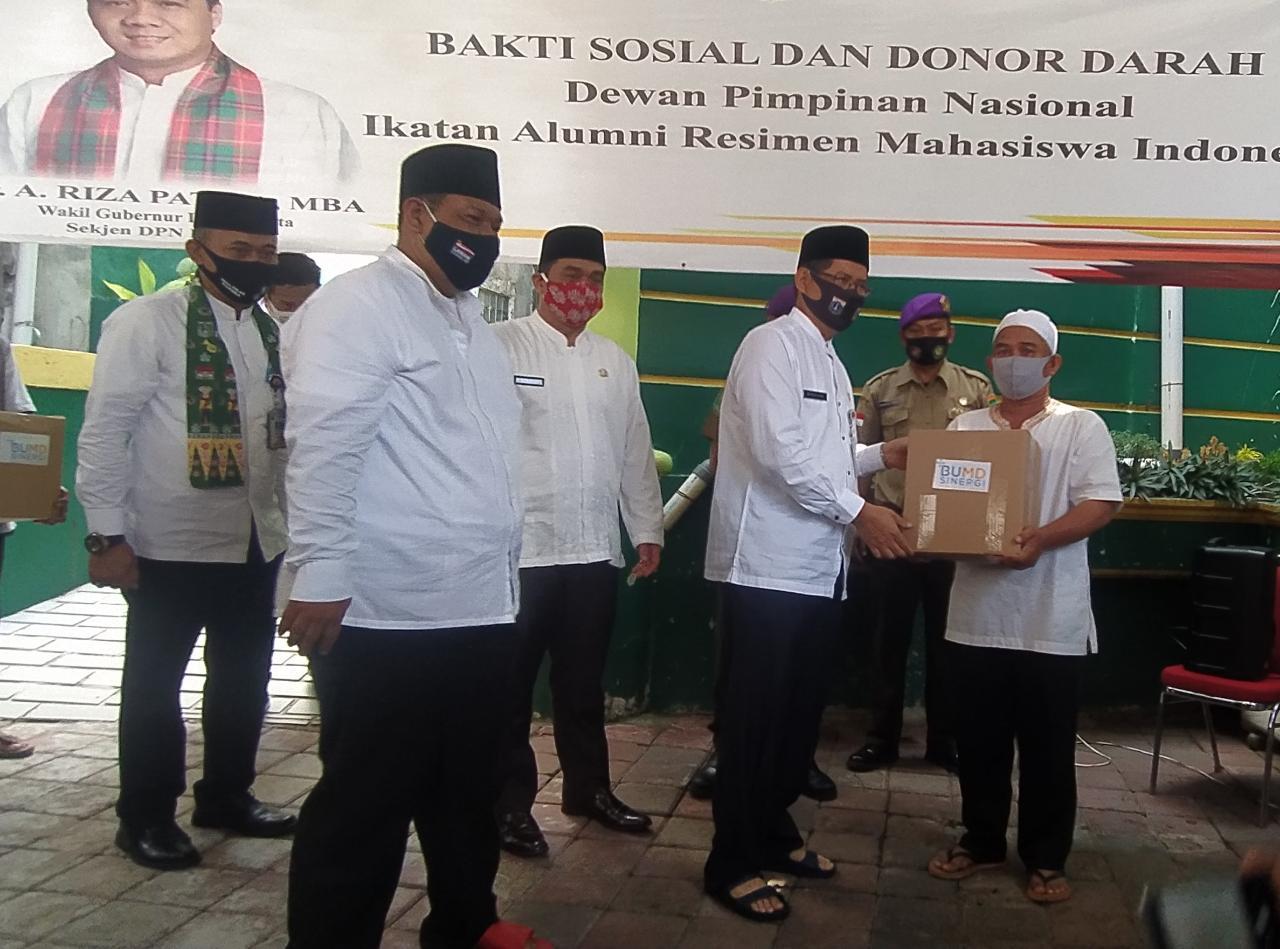 Mesjid Istikmal Gelar Donor Darah, Wagub Tetap Kampanyekan 3M