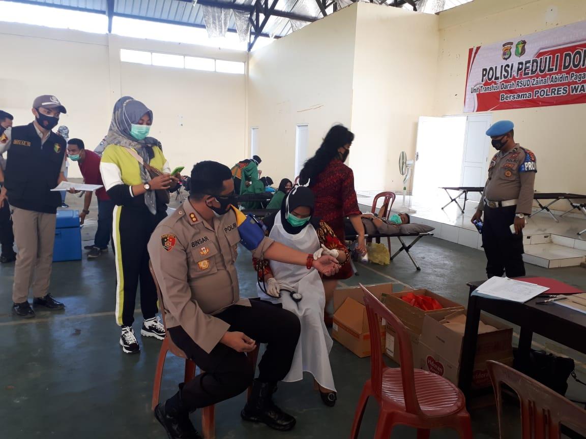 Polisi Peduli Donor Darah di Way Kanan