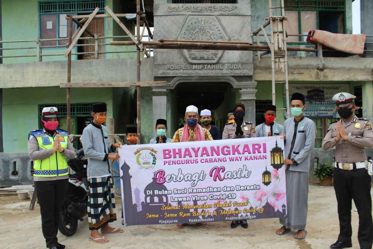 Bhayangkari Way Kanan Lampung  Gelar Bakti Sosial
