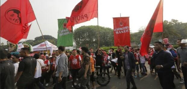 Diprovokasi Projo, SBY Tinggalkan Acara Deklarasi Kampanye Damai