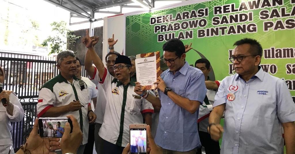 Akar Rumput Partai Bulan Bintang Dukung Prabowo-Sandi Presiden 2019-2024