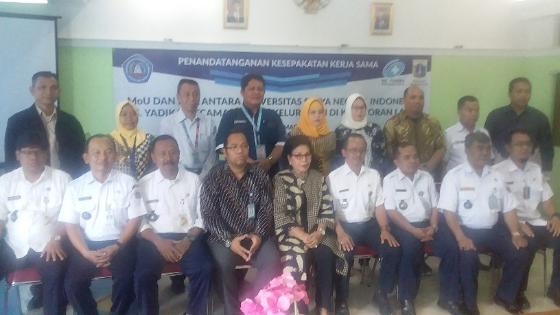 Tingkatkan Kesehatan dan SDM, RS Yadika, USNI dan Kecamatan Kebayoran Lama Tandatangani MoU