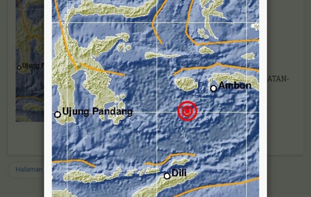 Buru Selatan Digoyang Gempa 5,6 SR