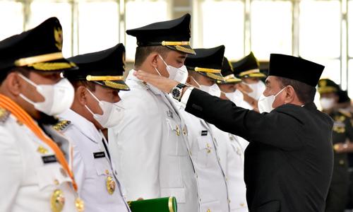 Gubernur Edy Rahmayadi Lantik Enam Kepala Daerah Hasil Pilkada Serentak 2020