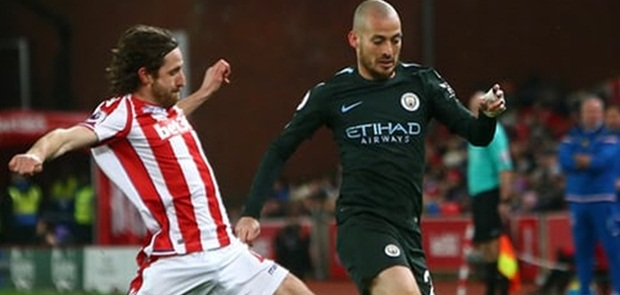 2 Gol David Silva Kian Dekatkan City pada Title Juara Liga Primer Musim Ini