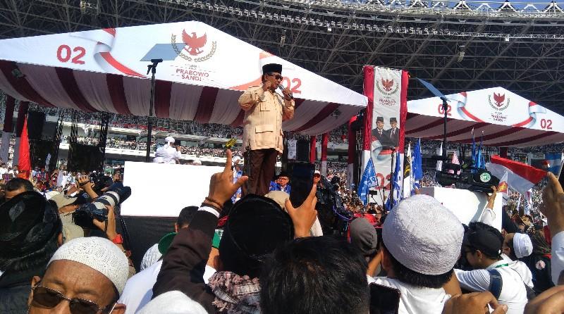 Prabowo Sebut Kampanyenya di GBK Merupakan Rapat Akbar Terbesar dalam Sejarah Perpolitikan Indonesia